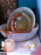 Citrine with Rainbow Onxy Bowls