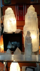 Selenite Lamps and Pyramids
